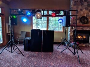 Wedding Reception DJ booth setup
